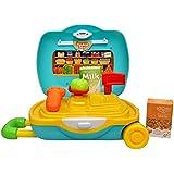 Toyshine Briefacse Cum Trolley Supermarket Play Cart Pretend Play Set Toy