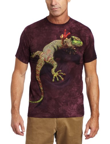 Peace Out Tee (The Mountain Herren Peace Out Gecko T-Shirt - Violett - 3X-Groß)