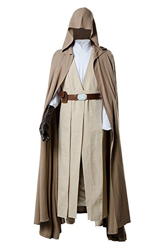 Star Wars 8 The Last Jedi Luke Skywalker Outfit Cosplay Kostüm Herren S