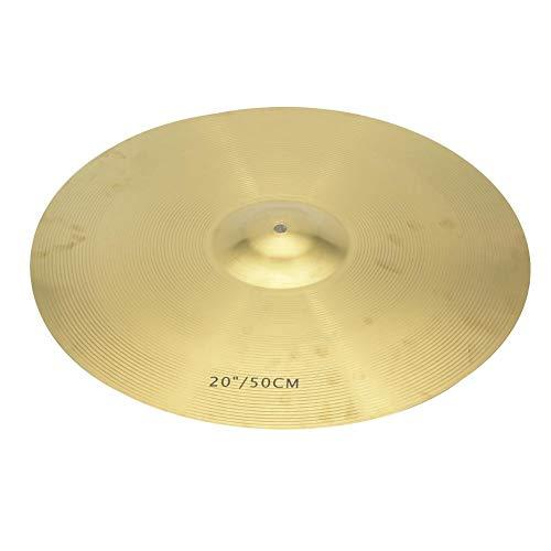 Bnineteenteam Drum Becken, 20 Zoll Messing Becken Classic Cymbal Crash Musikinstrument Zubehör für Drum Set