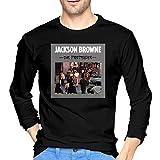 Photo de Fllaees Men's Fashion Cotton Long Sleeve T-Shirt Tops Blouse Jackson Browne The Pretender Casual O-Neck par Fllaees