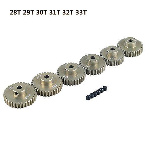 28t Getriebe (Prom-near Motor Getriebe 3.175mm T13-33 3.175mm M0.6Zahnrad Motor Zahnradsatz für 1/10 RC Auto LKW (28T 29T 30T 31T 32T 33T))
