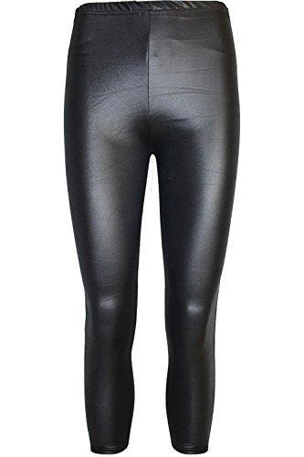 Damen 3/4 Länge Einfach Einfach Leggings Damen-viskose Dehnbar Hose Shorts Jeggings WetLook