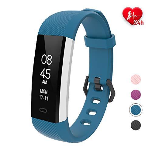 Orologio Fitness Tracker Donna, Fitpolo Smartwatch Donna Uomo Activity Tracker Cardiofrequenzimetro da Polso,Impermeabile IP68 Calorie Smartband, Orologio polso Contapassi per samsung Huawei iPhone