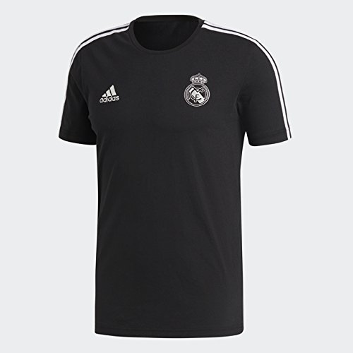 Manchester United-fan Gear (adidas Fußball-T-Shirt Manchester United FC 3-Streifen, Herren, Soccer Real Madrid 3 Stripes Tee, schwarz, Small)