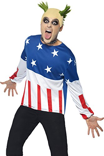 Prodigy Firestarter Costume for Men. Standard Size.. Includes top, wig and nose ring