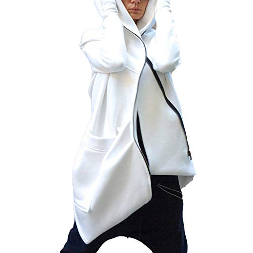 Beikoard Frauen lang die Kapuze unregelmäßige solide Top Zipper Pocket Plus Velour Mantel Overcoat Plus SAMT Pullover Mantel