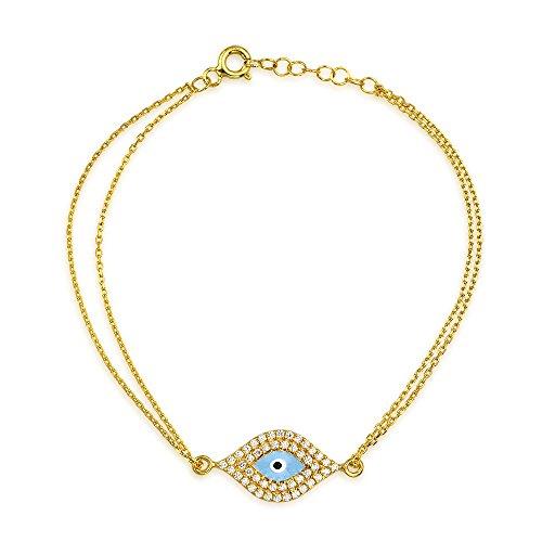Bling Jewelry Oro Vermeil mal de ojo Pulsera de CZ