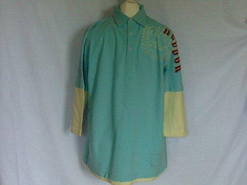 Da uomo Reebok Canton Aqua Blu Polo Top Sport Tempo libero indossare-Large