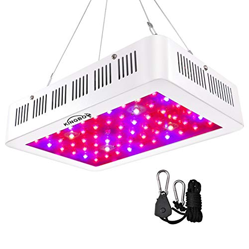 KINGBO 600W Doppel Chips LED Grow Light Vollem Spektrum LED Pflanzenlampe mit Rope Hanger for Indoor Greenhouse Hydroponic Plants Veg and Flower