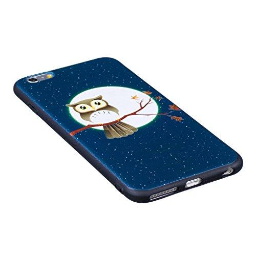 iPhone 6 Plus / 6S Plus Hülle, SATURCASE Schönes Muster Bas-relief Ultra Dünn Weich TPU Gel Silikon Schützend Zurück Case Cover Handy Tasche Schutzhülle Handyhülle für Apple iPhone 6 Plus / 6S Plus (5 Muster-2