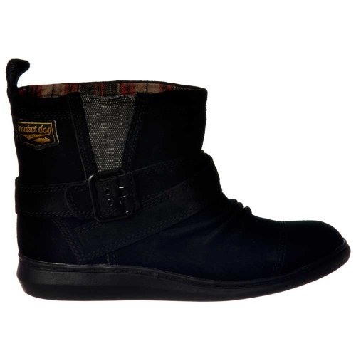 Rocket Dog Frauen-Minze-Wildleder-Stiefelette UK3 - Eu36 - Us5 - Au4 Schwarz (Slouch Faux Wildleder Schwarz Boot)