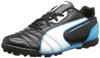Puma Universal TT Jr, Unisex-Kinder Fußballschuhe, Gelb (black-white-fluo blue 07), 37.5 EU (4.5 Kinder UK)