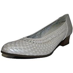 Theresia Muck - Birgit 64400.702 Damen Schuhe Pumps (4 H, offwhite / musch / leine)