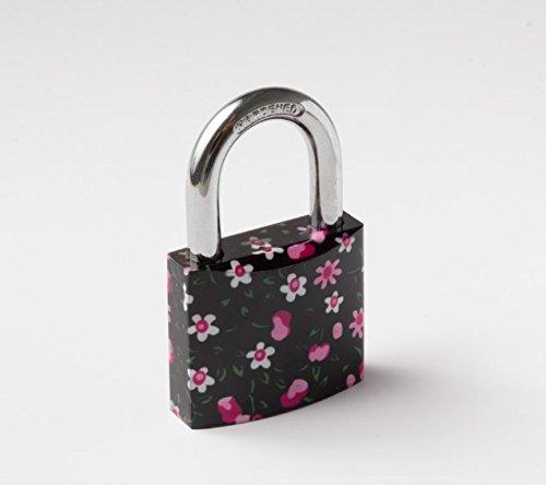 "TOKOZ 40mm Vorhängeschloss Emotion - Mit Farbdruck : \"" Cherry \"" / Cooles Design - Solides Schloss"