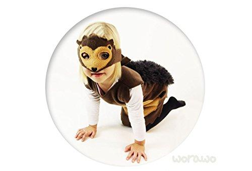 Kinderkostüm Igel mit Maske