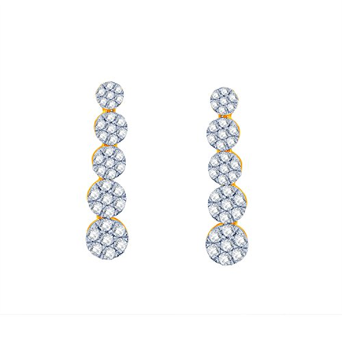 Giantti 14carats Diamant pour femme Dangler Boucles d'oreilles (0.8946CT, VS/Si-clarity, Gh-colour)