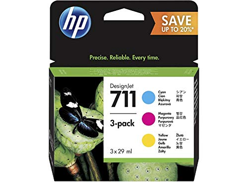 HP 711 Multipack Original Druckerpatrone (für HP DesignJet) (Hp Schwarz 28 Drucker Tinte)