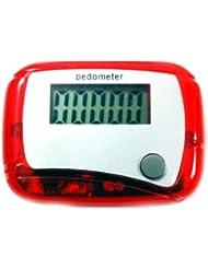 HuaYang Nouveau arrivé mini radio fm lcd pédomètre/courir. walking compteur de calories/lcd. podomètre radio fm(Rouge)
