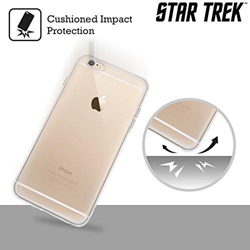 Ufficiale Star Trek Capitano Uniformi E Stemmi TNG Cover Morbida In Gel Per Apple iPhone 6 / 6s Capitano