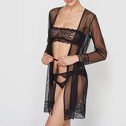 La Redoute Collections Donna Kimono In Tulle Nero