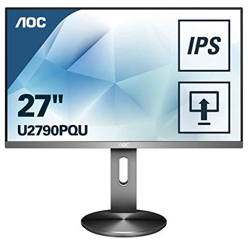 AOC U2790PQU 68 cm (27 Zoll) Monitor (HDMI, Displayport, USB Hub, 3840x2160, 60 Hz, 5 ms Reaktionszeit) schwarz