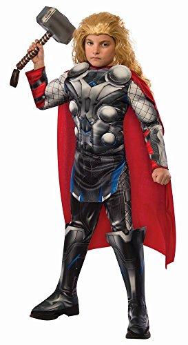 Marvel Avengers 2 Kinder Kostüm Thor Deluxe mit Cape Gr.L(7-9J.) (Avengers Thor 2 Deluxe Kind Kostüme)