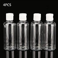 vap26 Bottle 4pcs X 100ml Multifunctional Plastic Shampoo Makeup Container Lotion Travel Clear Liquid