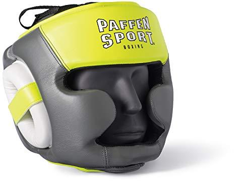 Paffen Sport Kids Kopfschutz für das Training - grau/Neongelb/weiß - GR: XS/S