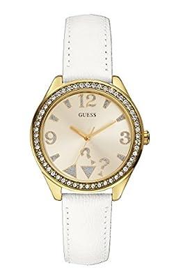 Guess W0402L1 - Reloj de pulsera mujer, piel, color Blanco