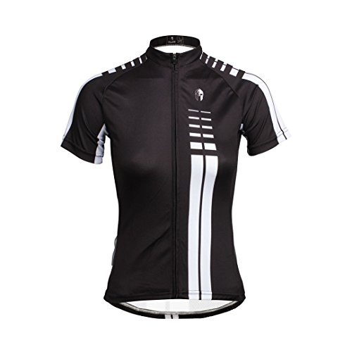 Women's Short Sleeve Cycling Jersey Jacket Moisture Wicking Outdoors Sports Shirt Quick Dry Breathable Mountain Clothing Bike Top Black Multicolor 2X-Large (Cycling Jersey Sleeve Lady Short)