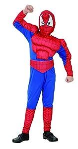 Fyasa 706079-t03muscular Spider Hero disfraz, tamaño mediano