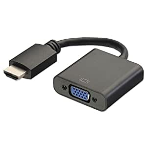 Terabyte Hdmi To Vga Converter Adapter Cable - The Simplest Converter (Black)