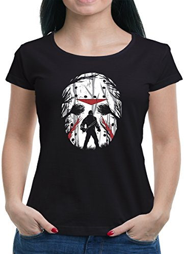 (Touchlines Merchandise Jason Friday Night T-Shirt Damen XL Schwarz)
