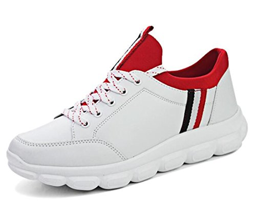 Men's Comfortable Outdoor Athletic Running Shoes White Red
