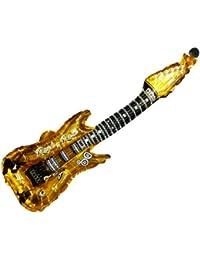 Aufblasbare Folien Luftgitarren Rock n Roll alle Farben