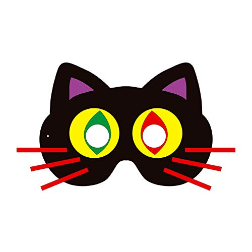 SJZC Maske Halloween Cosplay Cartoon-Muster Papier Masken Handarbeit Kind ()