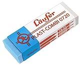 Läufer 00740 Plast-Combi 0740 Radierer, Radiergummi für Bleistifte, Farbstifte, Tinten und Tuschen, transparent-blau