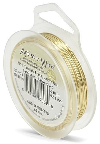 Beadalon Artistic Wire, Draht 18,29m, 24Gauge, ohne Anlaufen,