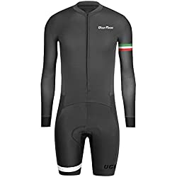 Uglyfrog Ropa Manga Larga Hombre Maillots Ciclismo Piernas Cortas Skinsuit with Gel Pad Triatlón Clothes HCLT10
