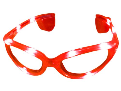ROTE LED Partybrille - Party LED Brille  -  Leuchtbrille - Sonnenbrille