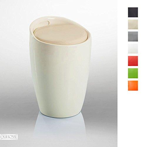 Hocker Stuhl mit Stauraum Badhocker Sitzhocker in CREME TYP 9-6220 - Duhome - mit Stauraum abnehmbare Sitzkissen Wäschehocker