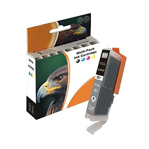 D&C 13ml Grey Druckerpatronen Kompatibel für Canon PGI-550 CLI-551 XL für Canon Pixma iP8750 iX6850 MG6350 MG6450 MG6650 MG7100 MG7150 MG7550 MX925 iP7200 iP7250 MG5400 Series MG5450 MG5550 MG5650
