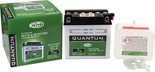 Batteria moto scooter 7Ah 12V 74A acido predosato Quantum