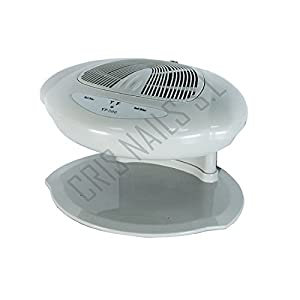 Crisnails ® Ventilador Secador de uñas Frío y Caliente Profesional Automático Nails (Gris)