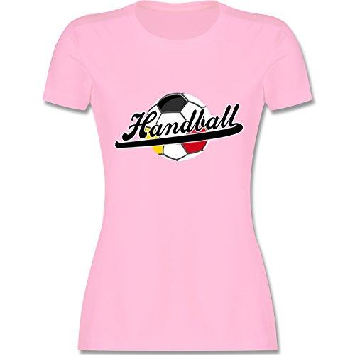 Handball WM 2019 - Handball Deutschland - XXL - Rosa - L191 - Damen Tshirt und Frauen T-Shirt