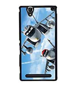 printtech Disney Planes sky Back Case Cover for Sony Xperia T2 Ultra , Sony Xperia T2 Ultra Dual
