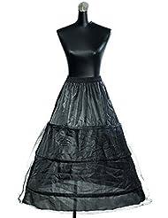HIMRY Design Jupon de Mariée en Crinoline Jupon, 3 Cerceau, Taille Unique, Adéquat pour Taille 34 - 40, KXB-005