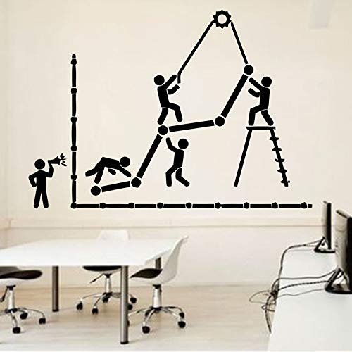 Büro Wandtattoo Idee Teamwork Business Worker Inspire Büro Dekoration Motivation Aufkleber Raumdekoration Einzigartiges Geschenk 81 * 57 Cm (Business Teamwork)