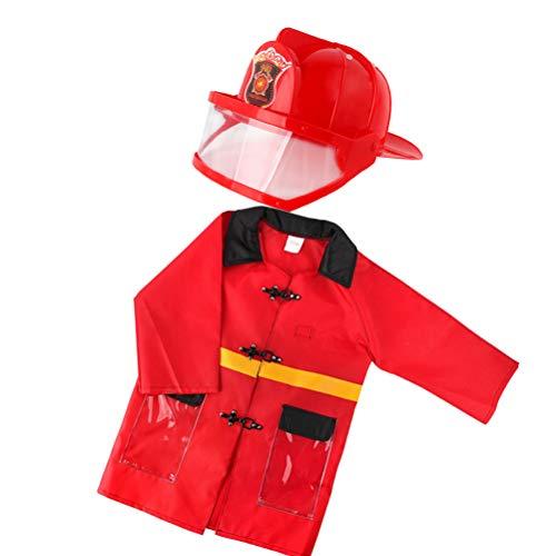 STOBOK Kleinkind Feuerwehrmann Kostüm für Kinder Rollenspiele Rollenspiele